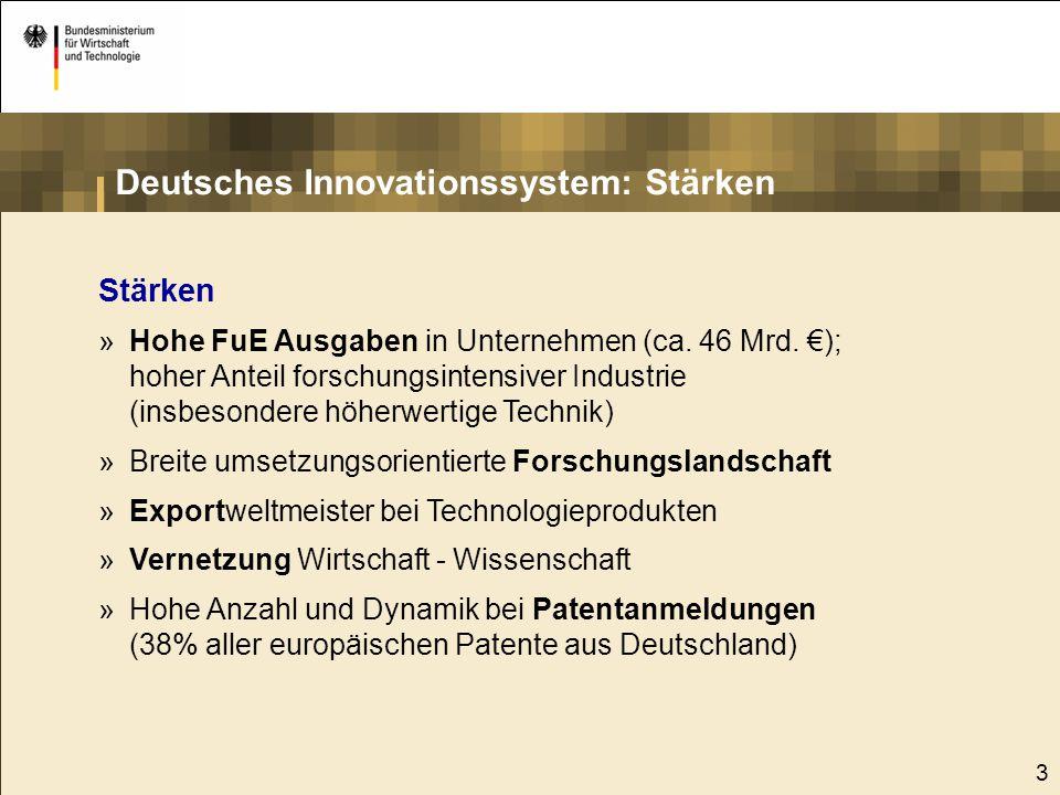 """4 Schwächen »Spezialisierung auf """"medium-tech Bereiche (z.B."""