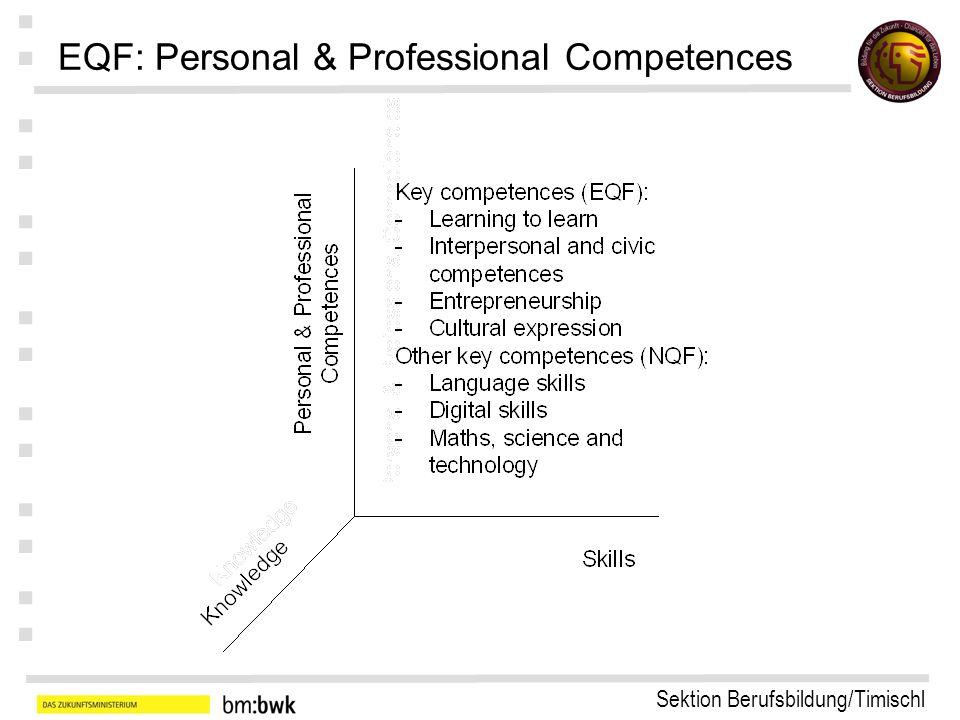 Sektion Berufsbildung/Timischl : : : : : : : EQF: Knowledge EQF European Qualification Framework