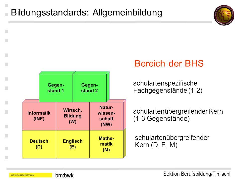 Sektion Berufsbildung/Timischl : : : : : : : Kompetenzgerüst: Informatik