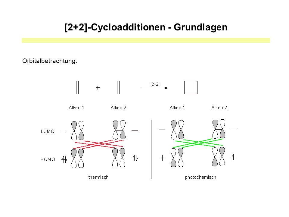Photokatalysierte [2+2]-Cycloadditionen - Bedingungen Lichtquelle: 275W – Lampe Essentiell für das Gelingen der Reaktion ist die Anwesenheit von Licht, Ru(bipy) 3 Cl 2, i-Pr 2 NEt und LiBF 4