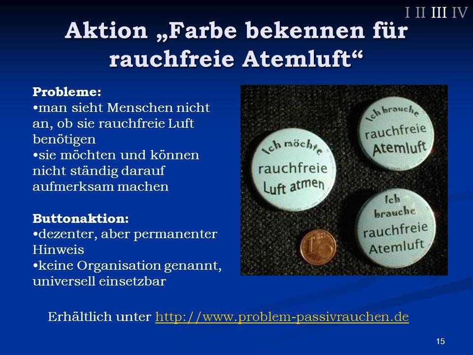 16 Uni Tübingen I II III IV Situation: Rauchverbot in Hörsälen stark verrauchte Gänge und Hallen -> zieht in Büros/Hörsäle erstes Beschwerdeschreiben im Juli 2003 der Rektor antwortet: