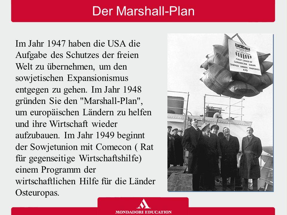 Der Atlantik Pakt und der Warschauer Pakt Im Jahr 1949 und im Jahr 1955 sind die beiden Supermächte zwei gegenüberliegende Militärbündnisse; die NATO (Atlantisches Bündnis): eine defensive Militärallianz zwischen den USA und zehn westeuropäischen Staaten und der Warschauer Pakt: ein Militärbündnis zwischen den Ländern des Ostblocks.
