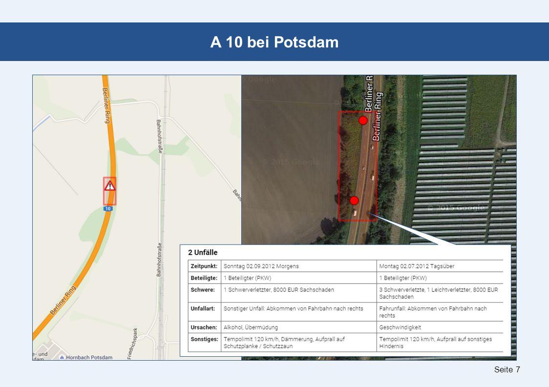 Seite 8 B 273 in Potsdam