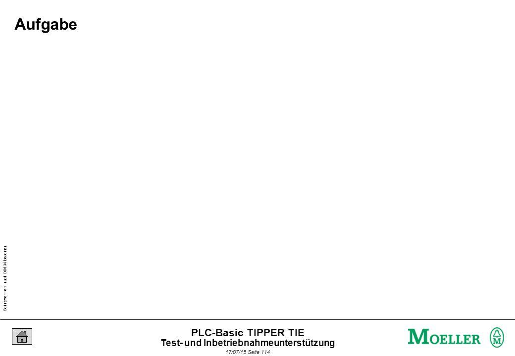 Schutzvermerk nach DIN 34 beachten 17/07/15 Seite 115 PLC-Basic TIPPER TIE Aufgabe Test- und Inbetriebnahmeunterstützung