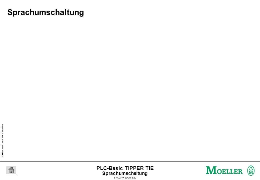 Schutzvermerk nach DIN 34 beachten 17/07/15 Seite 138 PLC-Basic TIPPER TIE Sprachumschaltung