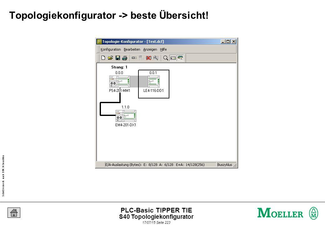 Schutzvermerk nach DIN 34 beachten 17/07/15 Seite 224 PLC-Basic TIPPER TIE Automatische Deklaration -> spart Zeit.