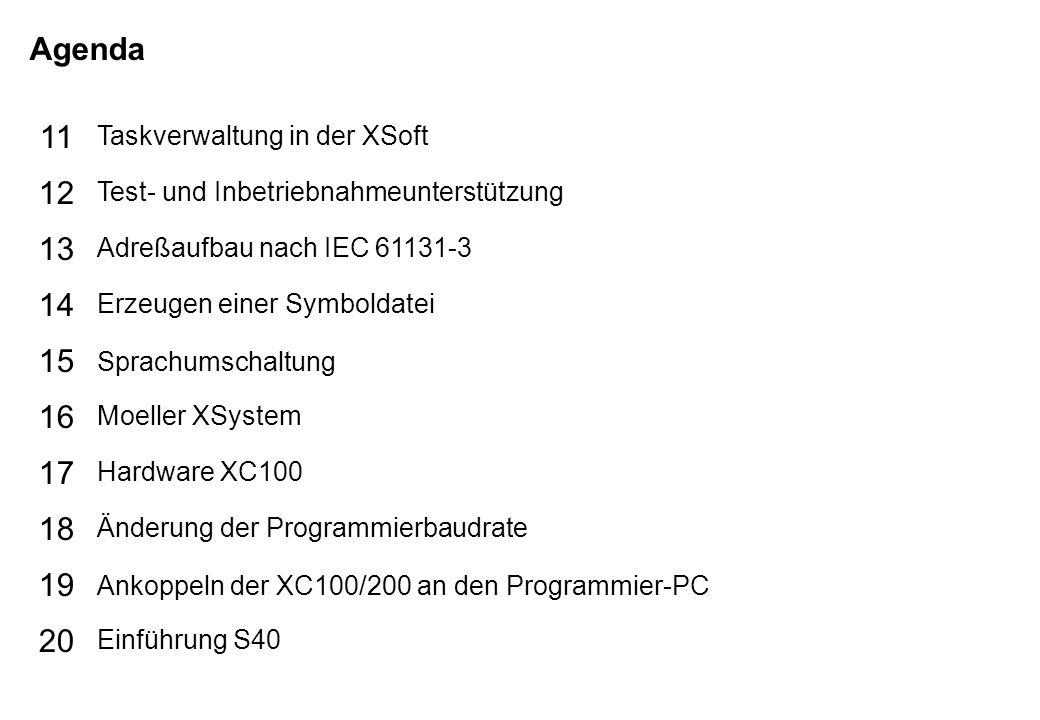 Schutzvermerk nach DIN 34 beachten 17/07/15 Seite 4 PLC-Basic TIPPER TIE Agenda 25 26 27 28 29 30 21 22 23 24 S40 Fahrplan zur Programmierung S40 Programmiersprachen S40 Topologiekonfigurator