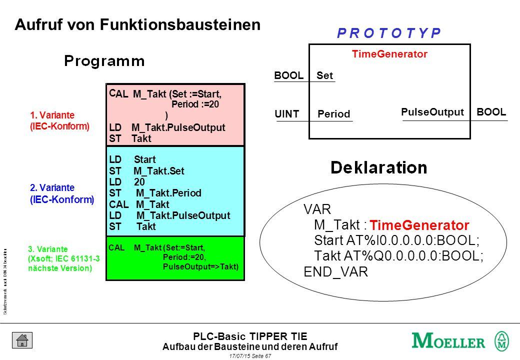 Schutzvermerk nach DIN 34 beachten 17/07/15 Seite 68 PLC-Basic TIPPER TIE Hersteller-Bibliotheken und Standard-Bausteine