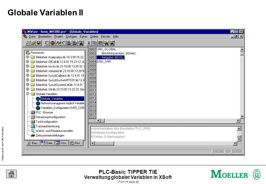 Schutzvermerk nach DIN 34 beachten 17/07/15 Seite 87 PLC-Basic TIPPER TIE Strukturierter Text