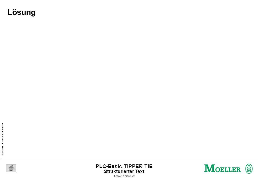 Schutzvermerk nach DIN 34 beachten 17/07/15 Seite 100 PLC-Basic TIPPER TIE Taskverwaltung in der XSoft