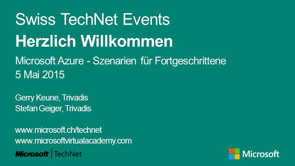 Agenda TechNet Program Switzerland René Hanselmann IT Pro Audience Microsoft Schweiz GmbH rene.hanselmann@microsoft.com +41 (0)78 844 64 64 http://www.microsoft.ch/technet