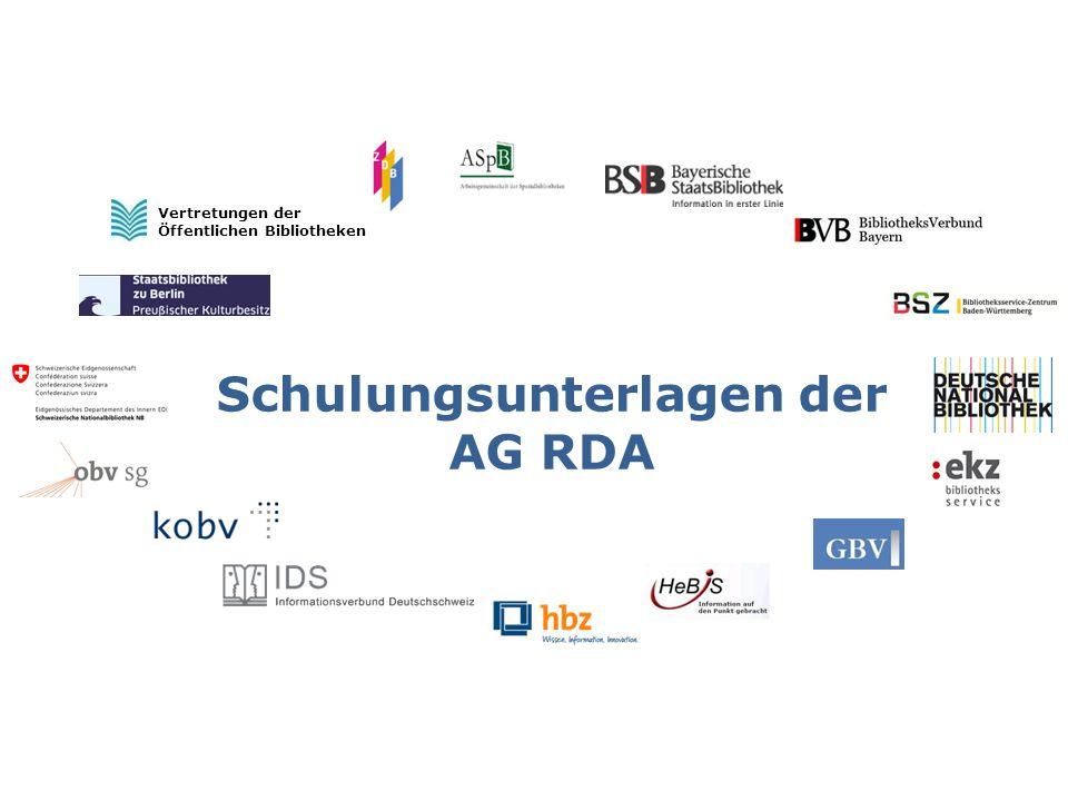 Latest beim Haupttitel, Paralleltitel, Titelzusatz und bei der Verantwortlichkeitsangabe AG RDA Schulungsunterlagen – Modul 5B.10: Latest beim Haupttitel | Stand: 18.06.2015 | CC BY-NC-SA2 Modul 5 B