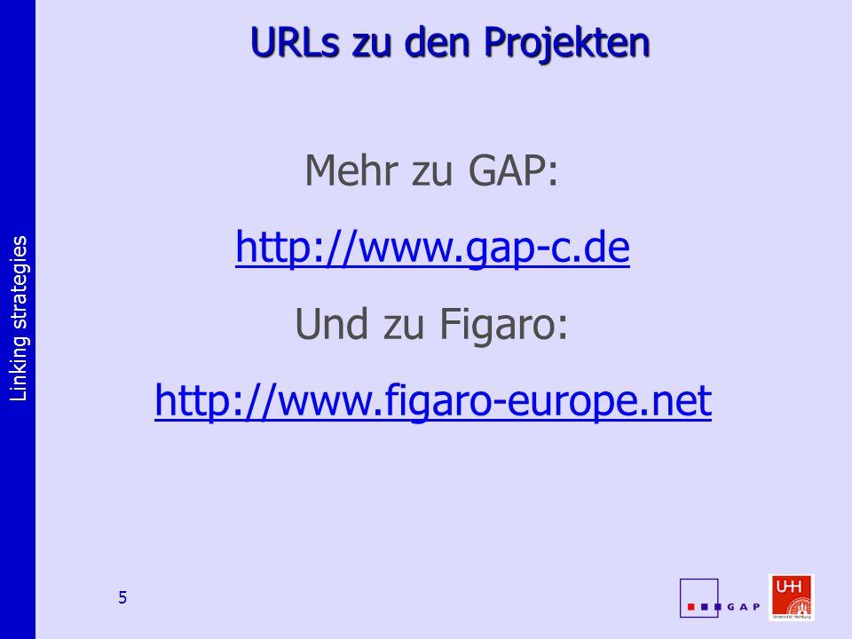 Linking strategies 6 Zeiger: die Elementaroperation Metadaten (Deskriptiv, identifizierend, administrativ) Zeiger (z.