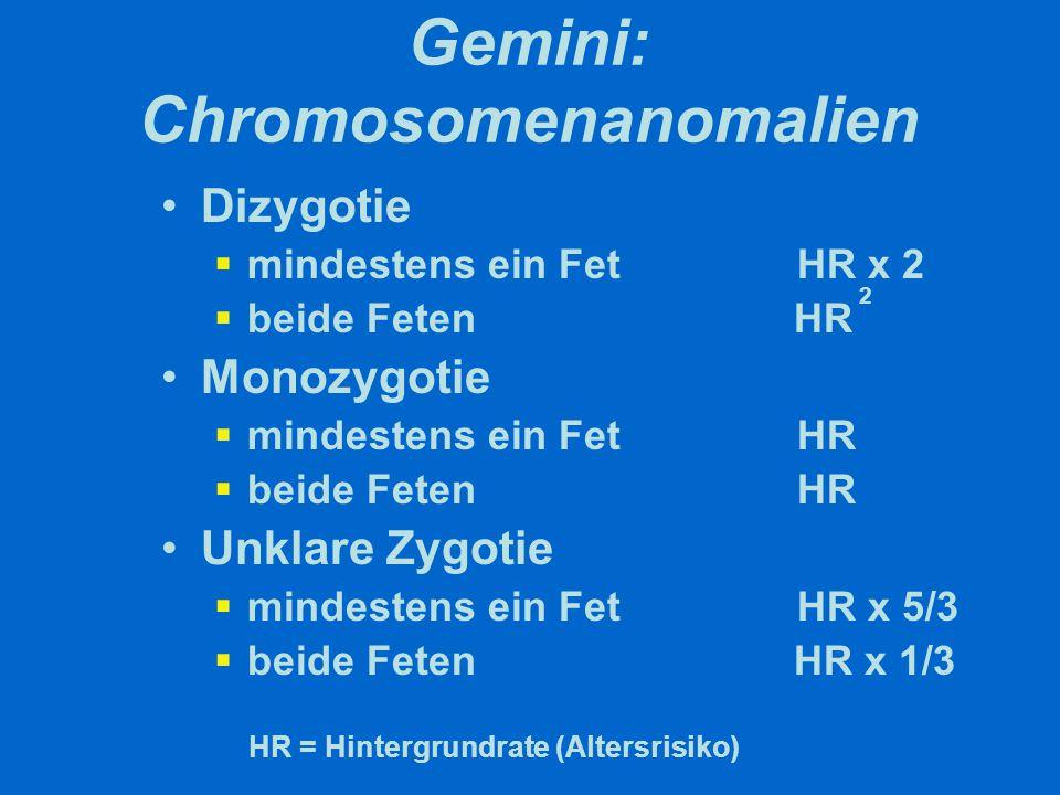 Gemini: Genetische Beratung Cave: 10 % aller dichorialen sind monozygot !