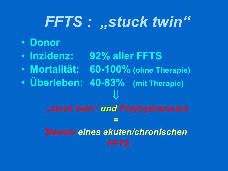 FFTS und Doppler Akutes FFTS im I.
