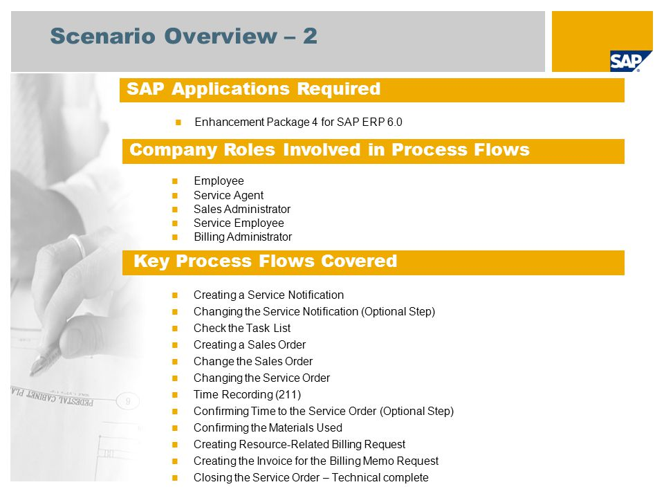 Scenario Overview – 3 Service with Time & Material Based Billing The quotation is created in referring to the service portfolio offered by the service provider.