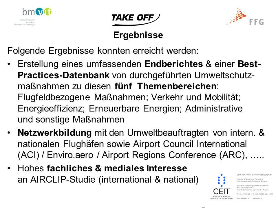 """Angestrebte Verwertung Durch Erreichen der Projektziele konnten die Forschungs- ergebnisse folgender Verwertung zugefügt werden: Konferenz REAL CORP 2008 am Flughafen Wien- Schwechat (VIE) und 2009 in Sitges, Spanien: Vorträge zu AIRCLIP – Airports and Climate Preservation New York Times-Artikel zu Airports See Success in Reducing Emissions http://www.nytimes.com/cwire/2009/04/24/24climatewire-airports-emission- reduction-efforts-start-to-10667.html?scp=3&sq=Macabrey&st=cse http://www.nytimes.com/cwire/2009/04/24/24climatewire-airports-emission- reduction-efforts-start-to-10667.html?scp=3&sq=Macabrey&st=cse Pressetext.at zu """"Flughäfen verbessern ihre Umweltbilanz http://pressetext.ch/news/090429001/flughaefen-verbessern-ihre-umweltbilanz http://pressetext.ch/news/090429001/flughaefen-verbessern-ihre-umweltbilanz"""