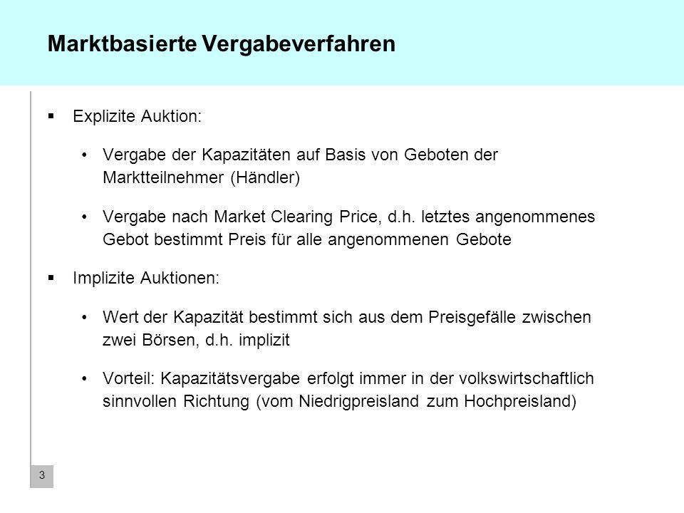 4 Derzeit angewandte Engpassmanagementmethoden Koordinierte explizite Auktionen Deutschland – Dänemark Deutschland – Niederlande Deutschland – Polen / Tschechien Einseitige explizite Auktionen Deutschland – Frankreich Pro-rata Kürzung Deutschland – Schweiz