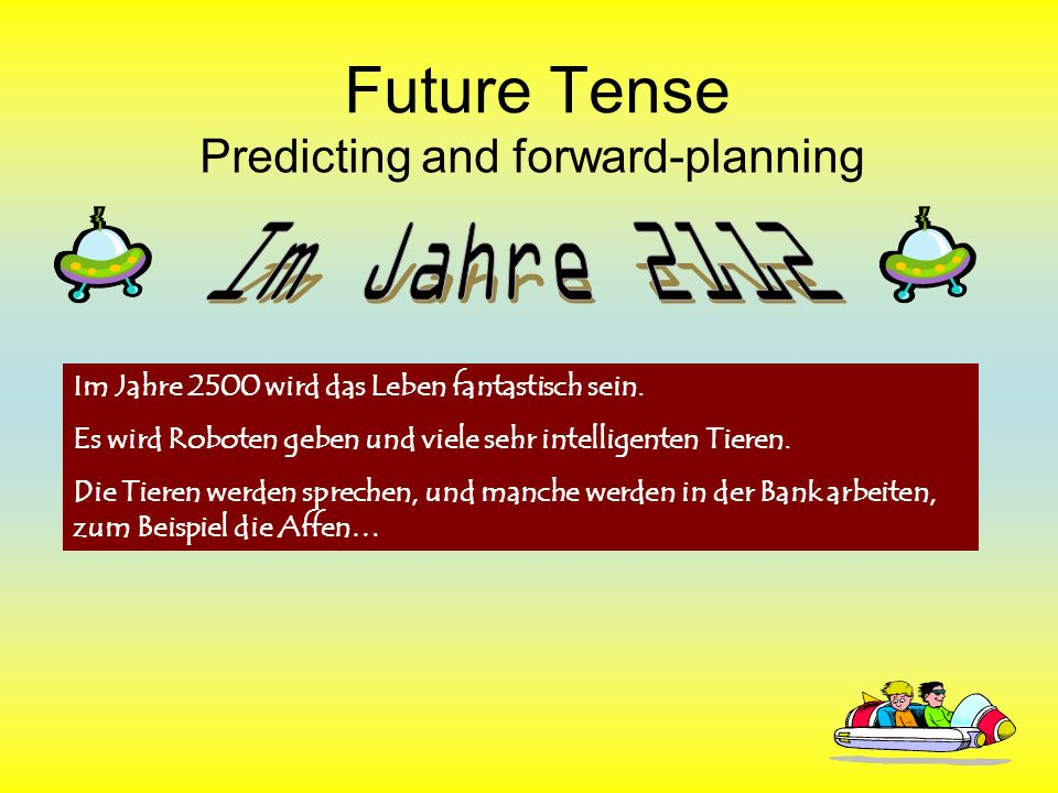 Future Tense In partners, brainstorm what EPCS will be like in 100 years.
