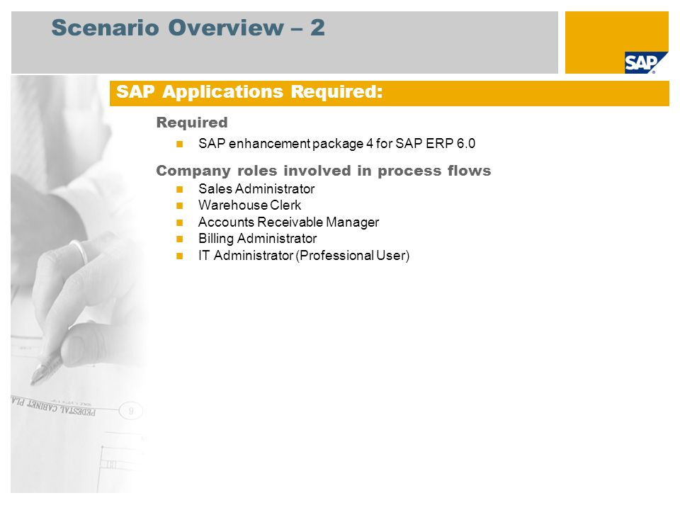 Scenario Overview – 3 Batch Recall A program is executed to identify all customers who received a defect batch.