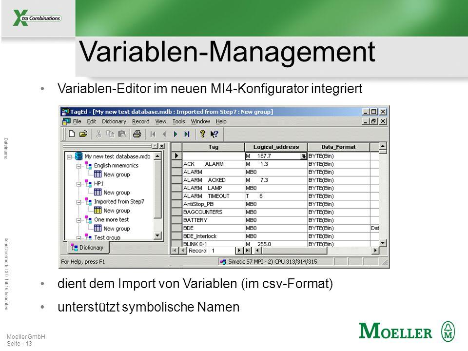 Mastertitelformat bearbeiten Dateiname Schutzvermerk ISO 16016 beachten Moeller GmbH Seite - 14 Erzeugen der mehr- sprachigen Applikation.
