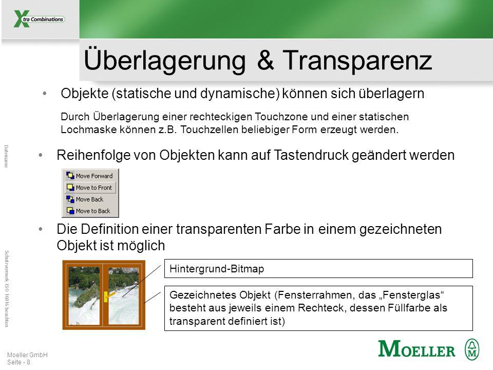 Mastertitelformat bearbeiten Dateiname Schutzvermerk ISO 16016 beachten Moeller GmbH Seite - 9 Textobjekte Texte sind als Objekte (Textboxen) verfügbar Dadurch können Texte einfacher als bislang kopiert, eingefügt, verschoben oder editiert werden.