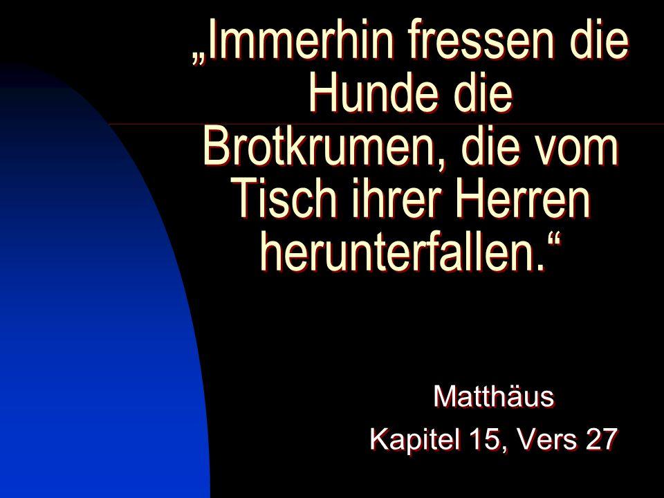 II. Die unbegrenzte Gnade Gottes B. Jesus befolgt das höhere Prinzip