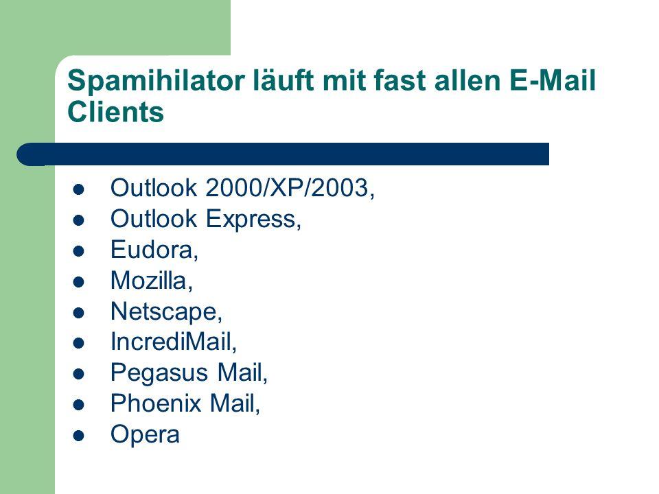 Wirkungsweise Spamihilator schaltet sich zwischen Ihre E-Mail-Software und das Internet und überprüft jede eingehende E-Mail auf Spam.