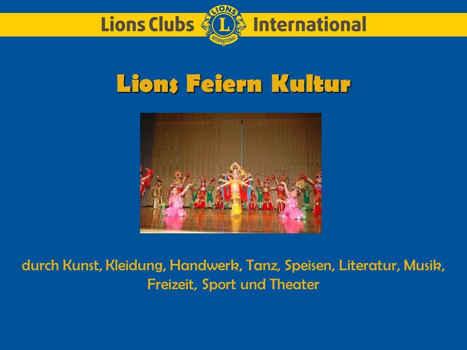 Der Lions Club Miami Buena Vista, aus Florida, USA, unterstützt ein lokales Kunstfestival.