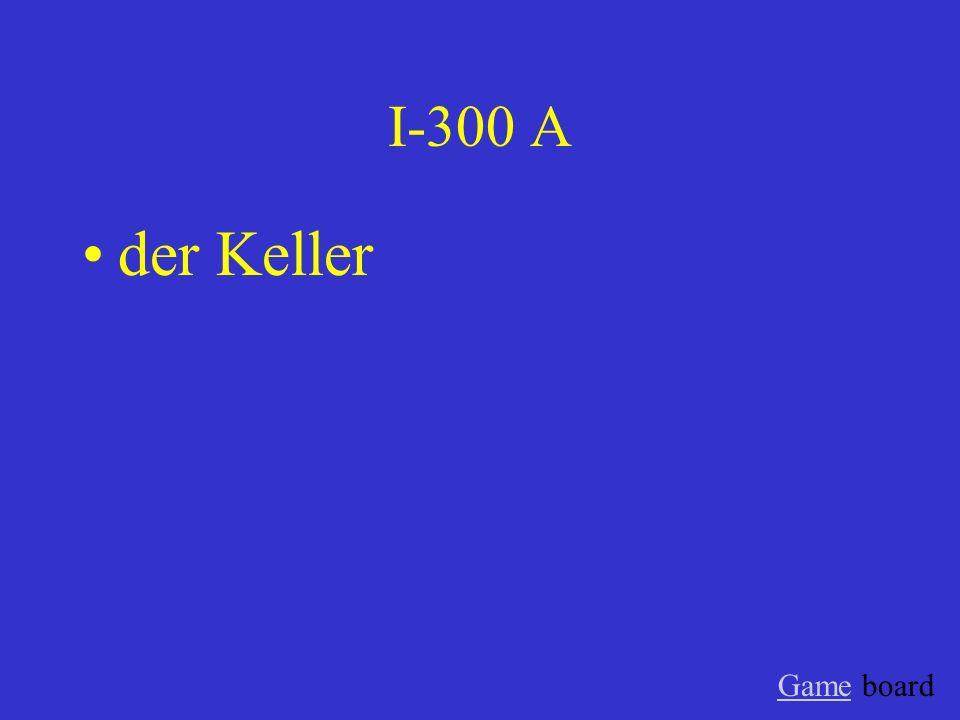 I-300 A der Keller GameGame board