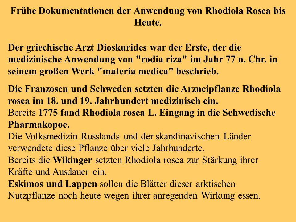 Anwendungsgebiete von Rhodiola Rosea - altersbezogene Beschwerden.