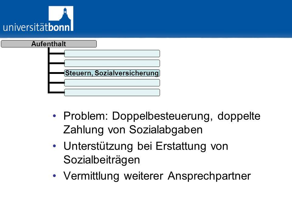 Aufenthalt Soziale Integration Rektorempfang einmal pro Semester –Einladung: 14.