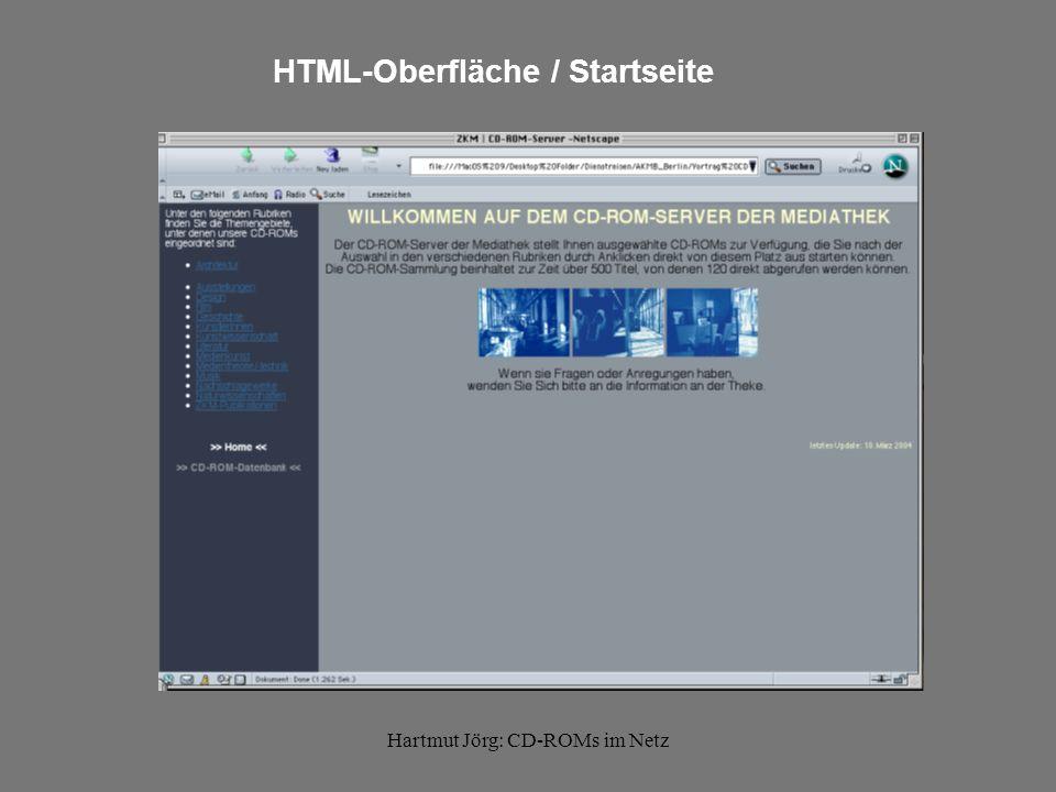Hartmut Jörg: CD-ROMs im Netz Rubrik mit Verknüpfungen zu Batch-Dateien