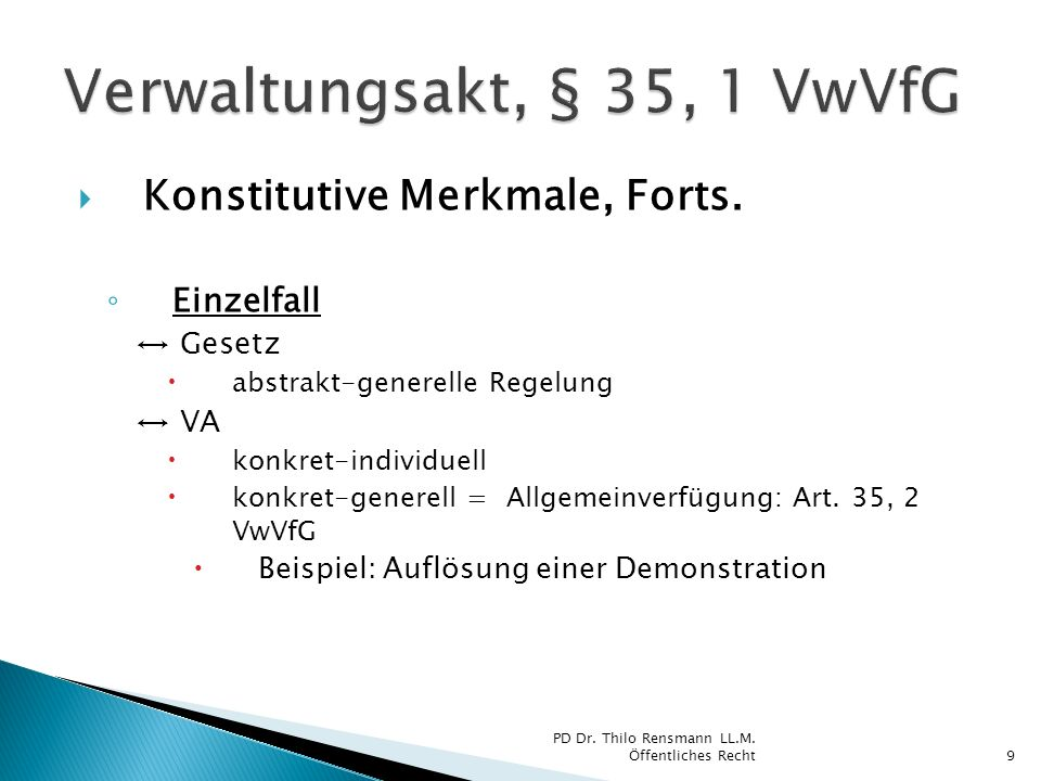 Konstitutive Merkmale, Forts.
