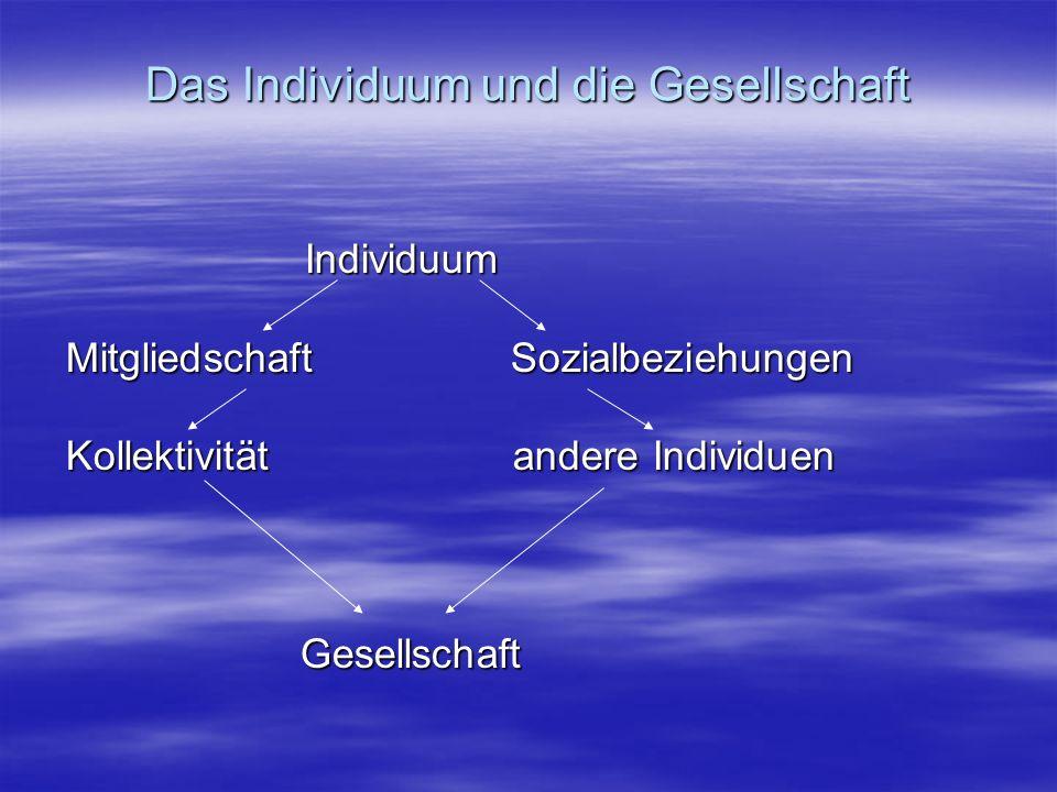 Sozialbeziehungen im Sinne der sozialen Rollen Multi-Rollen des Individuums A.