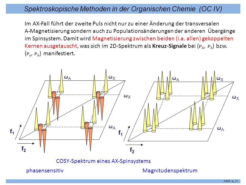 Spektroskopische Methoden in der Organischen Chemie (OC IV) NMR -4_12 Beispiel 500 MHz COSY Spektrum