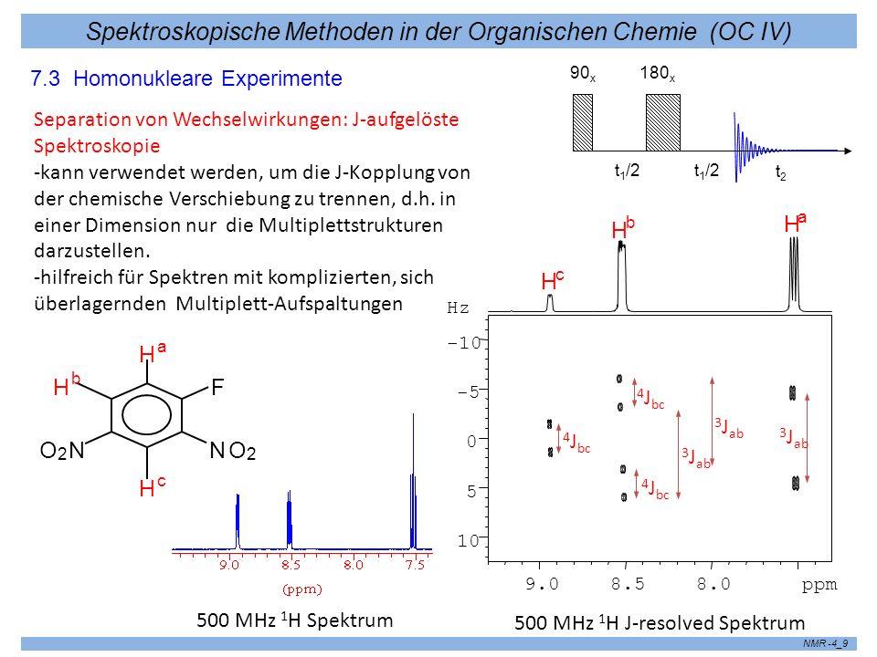 Spektroskopische Methoden in der Organischen Chemie (OC IV) NMR -4_10 - kann nicht mehr mittels Vektorbildern, sondern nur im Rahmen des Produktoperator-Formalismus erklärt werden.