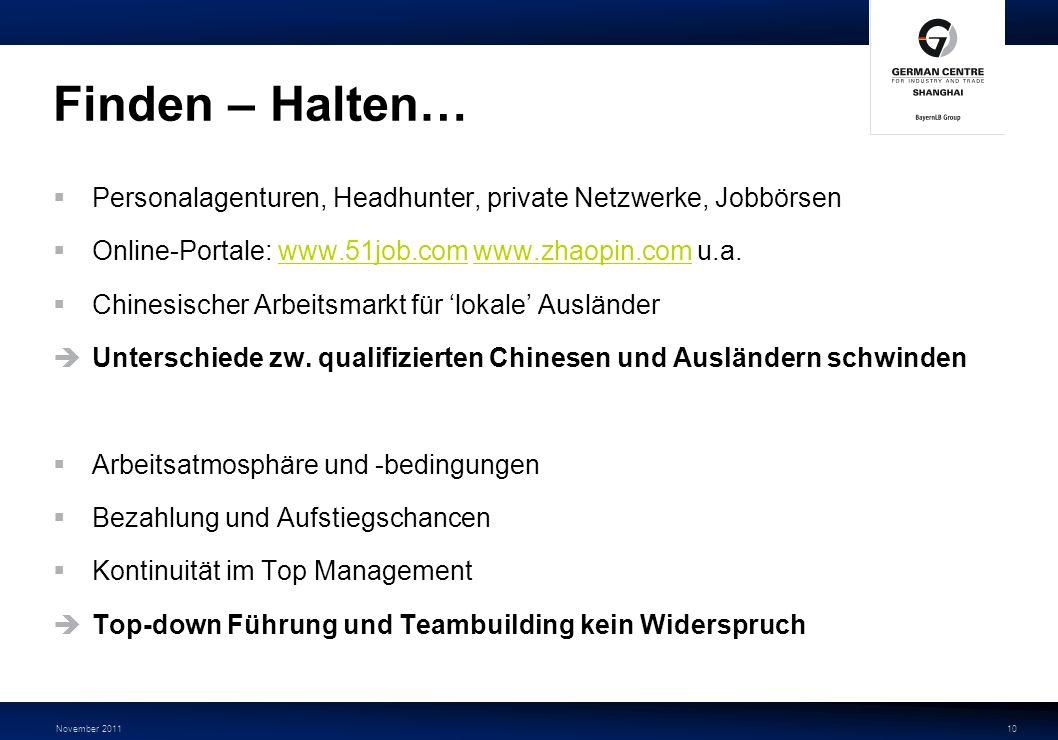 November 201111 …und Loswerden Arbeitsgesetz vom 01.