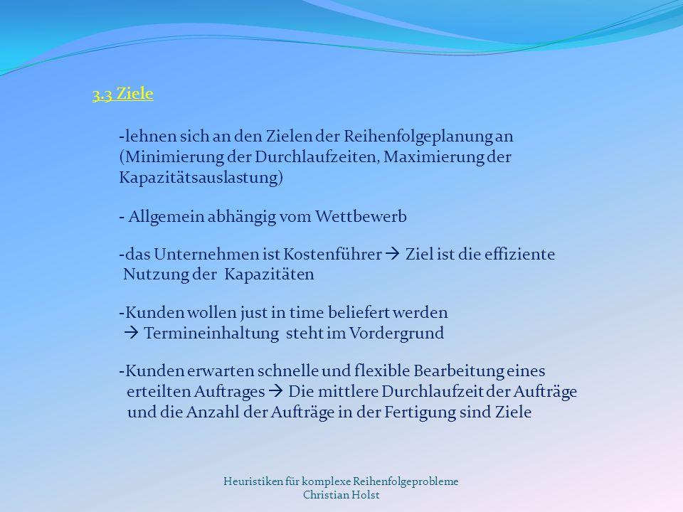 Heuristiken für komplexe Reihenfolgeprobleme Christian Holst 4.