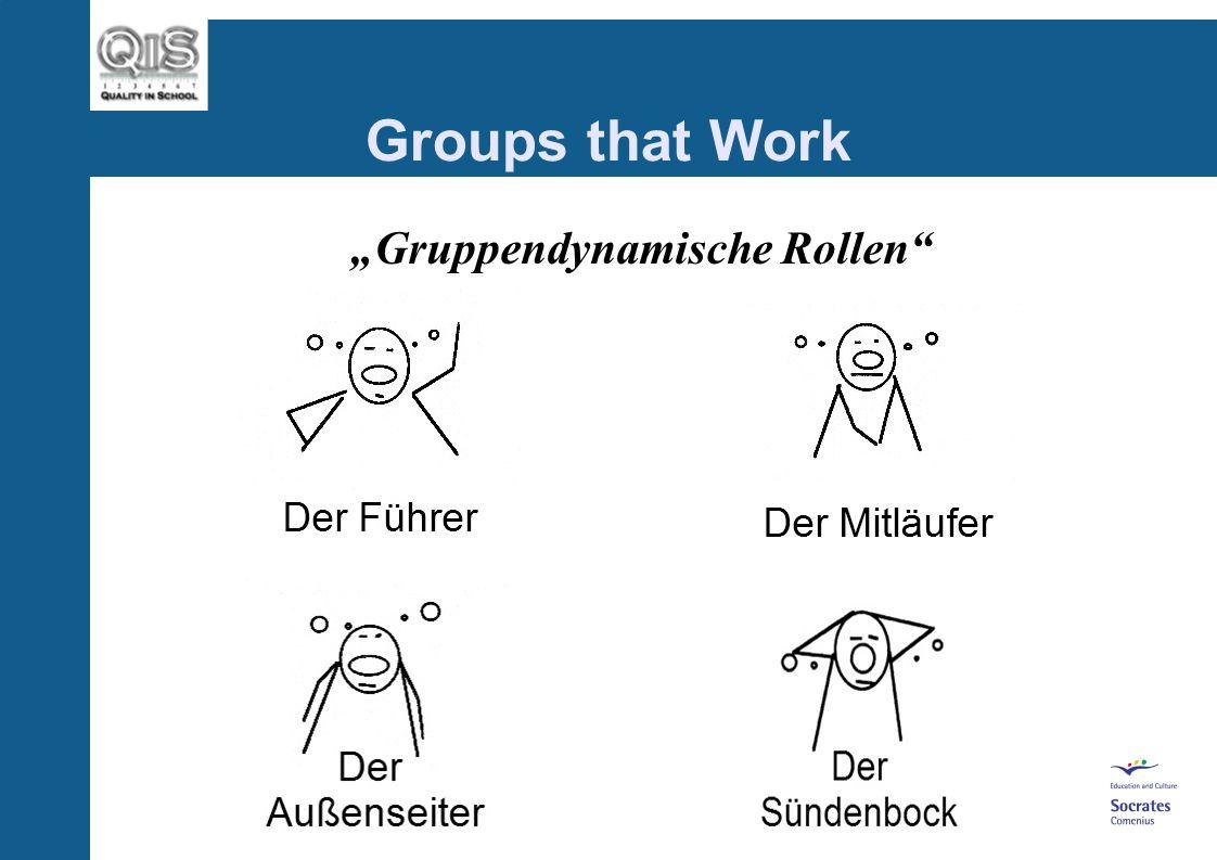 Groups that Work Gruppendynamische Rollen