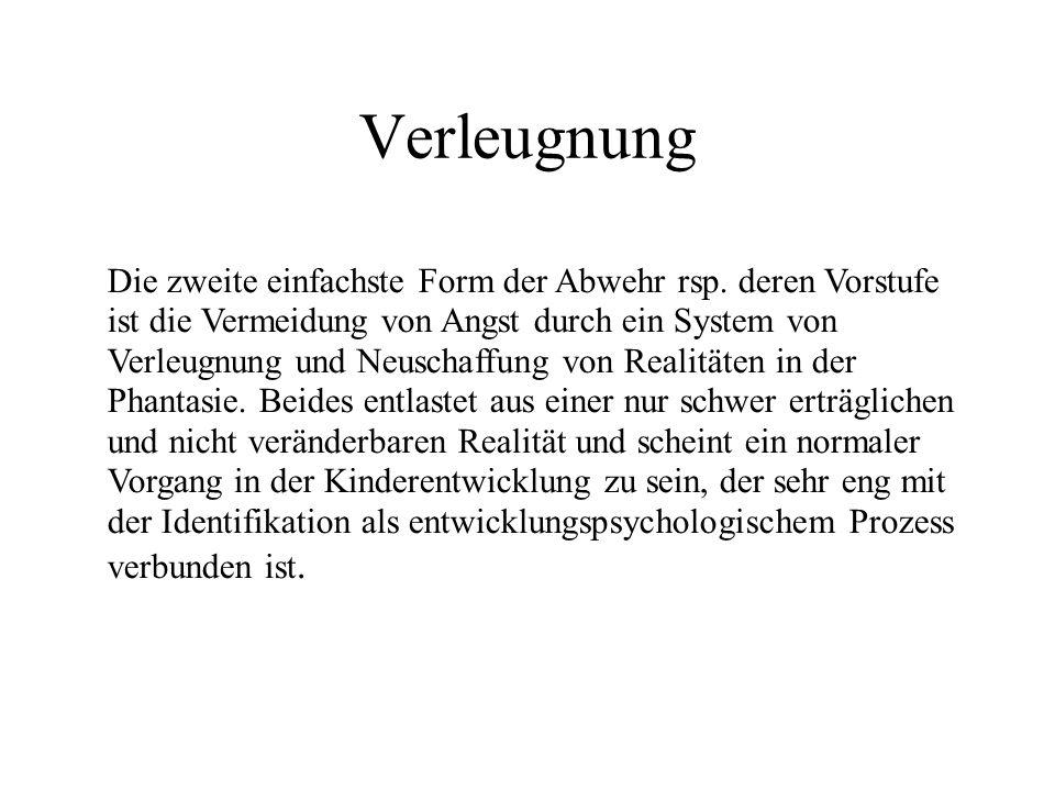 Verdrängung Operation, wodurch das Subjekt versucht, mit einem Trieb zusammenhängende Vorstellungen (Gedanken, Bilder, Erinnerungen) in das Unbewußte zurückzustoßen oder dort festzuhalten (Seite 582).