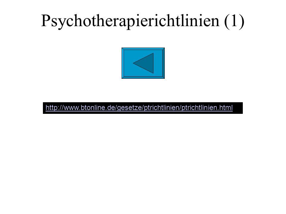 Psychotherapie-Richtlinien