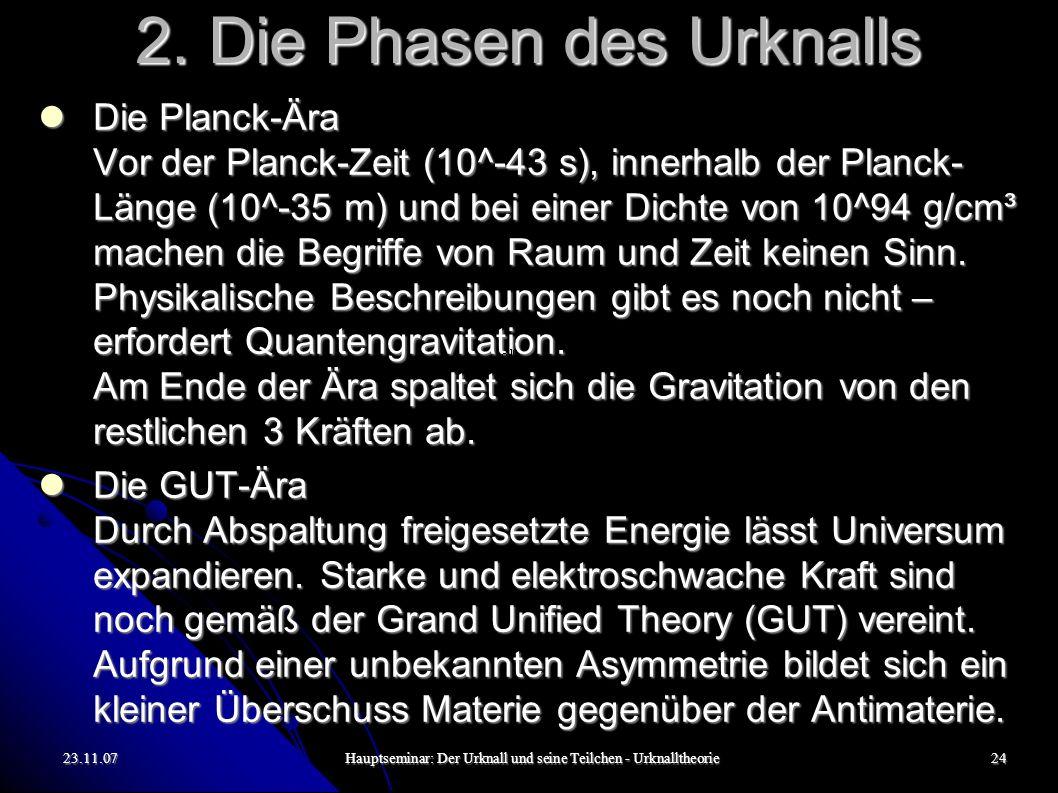 23.11.07Hauptseminar: Der Urknall und seine Teilchen - Urknalltheorie25 2.