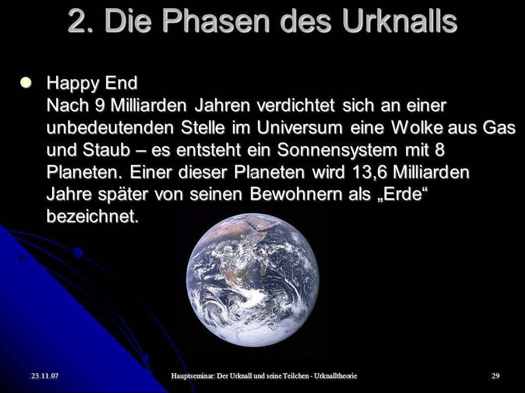 23.11.07Hauptseminar: Der Urknall und seine Teilchen - Urknalltheorie30 3.