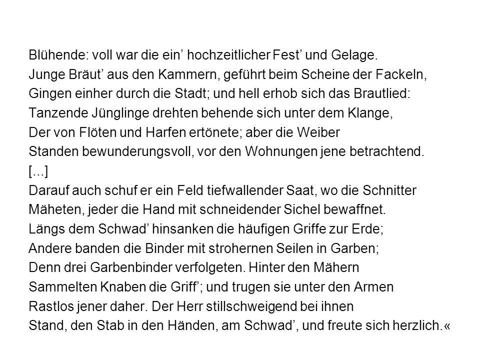 Züs Bünzlins Schublade und Achilles Schild – zwei Arten der Beschreibung Sowohl bei Homer als auch bei Gottfried Keller findet sich eine Aufzählung, die den Fortgang der Handlung unterbricht.
