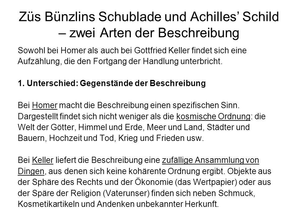 Züs Bünzlins Schublade und Achilles Schild – zwei Arten der Beschreibung 2.