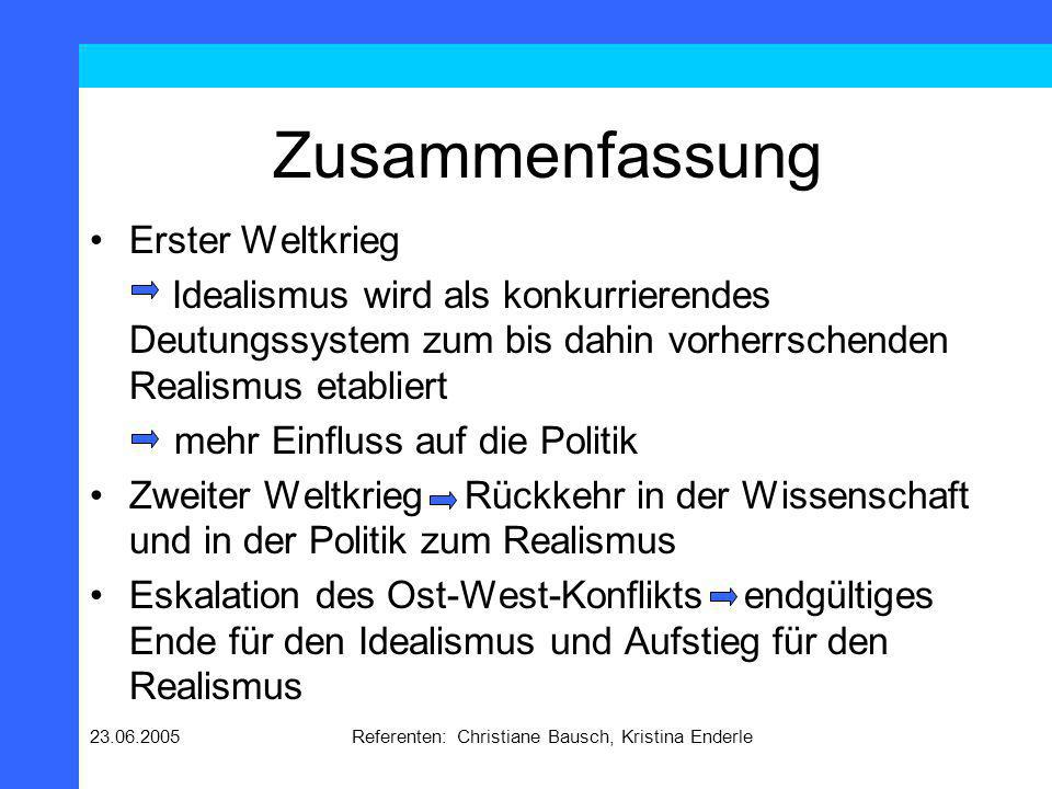 23.06.2005Referenten: Christiane Bausch, Kristina Enderle 2.