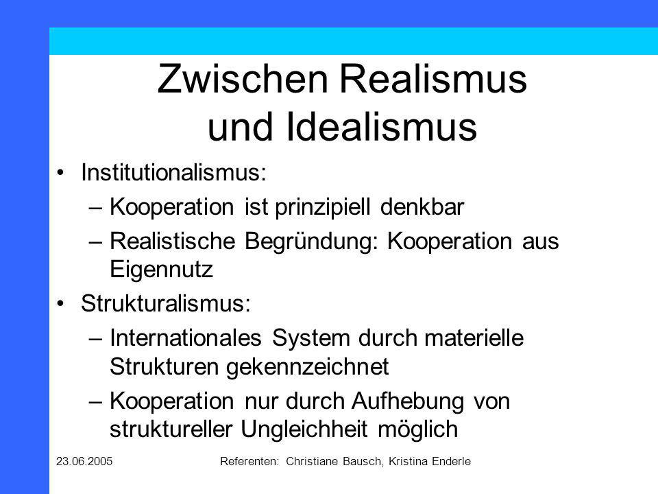 23.06.2005Referenten: Christiane Bausch, Kristina Enderle Die vier Traditionen in der Lehre von den IB
