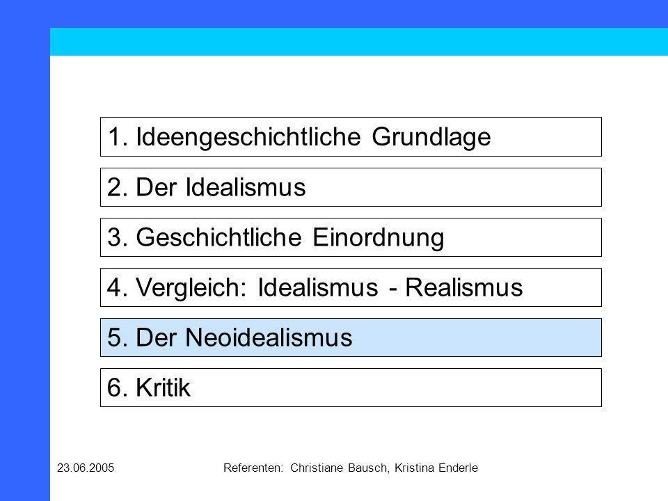 23.06.2005Referenten: Christiane Bausch, Kristina Enderle Historische Situation Ende des Ost-West-Konflikt Aufwertung internationaler Kooperation Ausbreitung der Demokratie