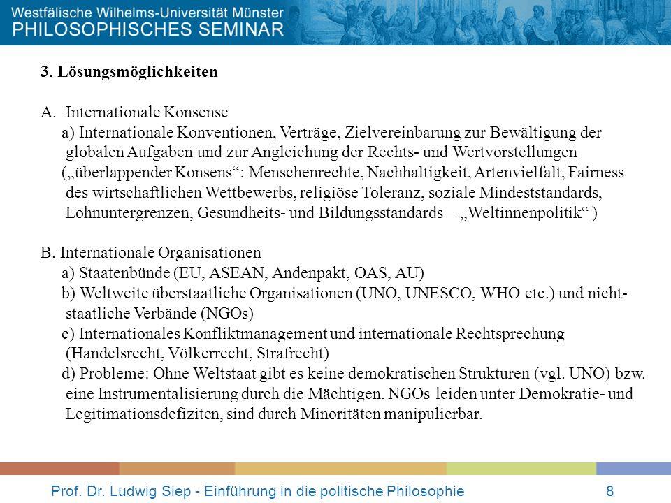 Prof.Dr. Ludwig Siep - Einführung in die politische Philosophie9 3.